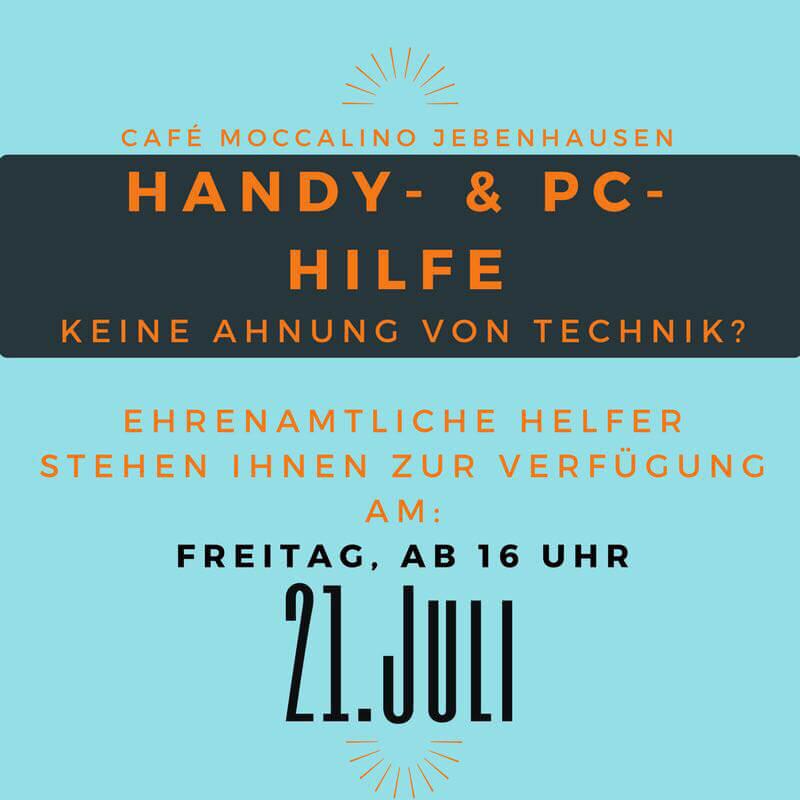 Handy- und PC-Hilfe am 21. Juli 2017